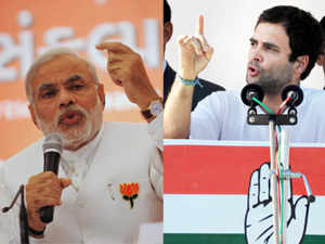 Rahul Gandhi and Chief Minister Narendra Modi sparred today after the Congress leader invoked Mahatma Gandhi, as the Gujarat war hotted up on the last day of campaigning.