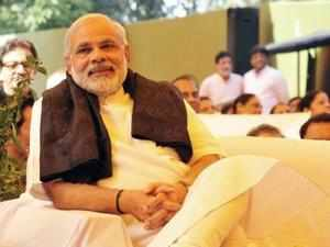 """Narendra Modi today said the ruling BJP would score a """"hat-trick"""" in the state by winning the assembly polls for the third time in a row."""