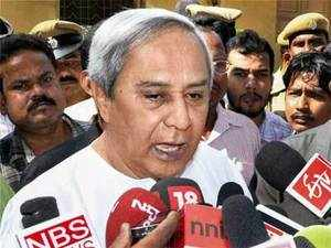 File photo: Odisha Chief Minister Naveen Pattanaik addresses the media about the dismissal of Pyari Mohan Mohapatra from Biju Janata Dal at the party office in Bhubaneswar. (PTI photo)