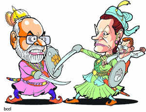 Narendra Modi of BJP performed a hat-trick retaining power for the third time in Gujarat, while Congress ousted BJP from office in Himachal Pradesh.