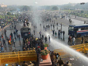 "Former Army Chief Gen V K Singh lent support to the protesters when he joined them at the India Gate and blamed the ""systemic collapse""."