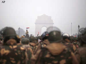 The heart of the national capital today turned into a fortress with heavy deployment of police who blocked roads leading to India Gate and Raisina Hill to ensure that no protests take place there but the arrangements put commuters at severe hardship.
