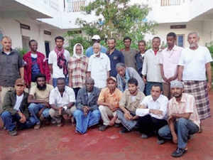 After nearly 32 months of being held captive on board the cargo ship MV Iceberg, five Indians sailors released by Somali pirates returned home today