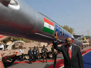 """""""At 9.30 AM, the missile blasted off in a pre-designated war scenario taking a 'double- manoeuvre in S-form' hitting the designated target ship just one meter above water line.The sheer velocity and power of hit made the missile rip through the ship's hull,"""" BrahMos Aerospace CEO A Sivathanu Pillai said here."""