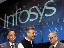 Shares of Infosys today ended marginally lower ahead of its third quarter earnings to be announced tomorrow. The stock of IT major settled 0.34 per cent lower at Rs 2,320.35 on the BSE.