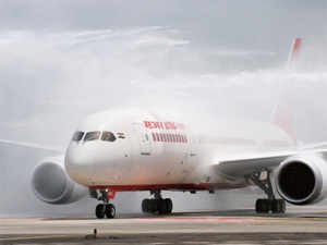 The first flight (AI-143/142) on the Delhi-Paris-Delhi route took off from the IGI airport here this afternoon amid fanfare.