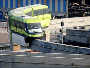 Pic: Monorail test drive from the Wadala