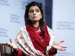 """Hina Rabbani Khar has offered to hold """"discussion and dialogue"""" with  Salman Khurshid to resolve the crisis at the Line of Control."""