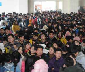 China's urban population accounted for 52.57% of the total population in 2012, up 1.3% points from a year earlier.