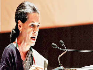 Congress president Sonia Gandhi has acknowledged the declining political fortunes of the party.