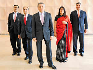 From left to right- Ravi Kapoor, Head,Corporate & Investment Banking, Rajiv Nair, Head of Capital Markets Origination, Pramit Jhaveri, CEO, Citi India, Bhavna Thakur, Head of Equities, Capital Markets Origination and Sameer Nath.