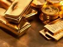 Standard gold of 99.5 per cent purity moved down by Rs 35 per 10 gram to finish at Rs 30,575 from Thursday's level of Rs 30,610.