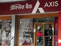 Axis Bank Ltd surged over 3 per cent in opening trade on Tuesday after the private sector bank launched drive to raise Rs 5,546 crore fund.