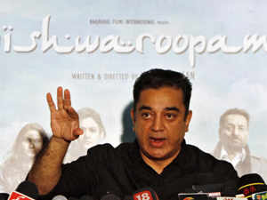 """""""If one movie is threatening the unity of the country, then I say here, take my property. I earned all of it from cinema,"""" Kamal Haasan said, pointing to the house where he grew up."""