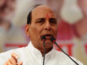 """BJP president Rajnath Singh praised Gujarat chief minister Narendra Modi in Bhopal on Sunday, describing him as the """"most popular"""" and """"able leader"""""""