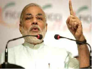 Modi today used a college platform to project himself nationally saying his focus was on development politics and not that of vote-bank.