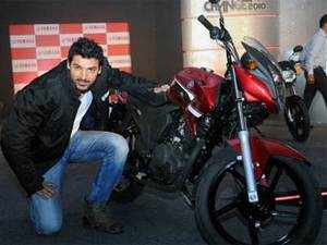 The newly set up sales entity will be called Yamaha Motor India Sales and will be headed by Masaki Asano as its managing director.  File photo: Actor John Abraham poses with Yamaha SZ-X in Greater Noida.