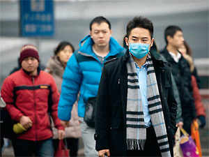 The Chinese govt has its own results, but the American embassy's readings have stricter standards called PM 2.5, measuring particles less than 2.5 microns wide