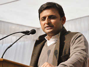 """""""The state will move ahead with this budget and the target of making UP 'Uttam Pradesh' (excellent state) will be achieved,"""" Akhilesh told reporters here."""