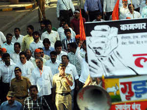 Death of a trade union leader during 2-day nationwide strike called by central trade unions, sparked tension in Ambala where prohibitory orders are imposed.
