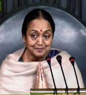 As soon as the Lok Sabha met, Meira Kumar made an obituary reference to the victims of the blasts in which several persons were killed and a large number injured.