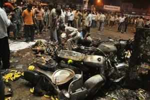 Union Home Minister Sushil Kumar Shinde, who visited the site of the blast and also the injured in hospital, told reporters that the condition of six of them was critical.