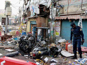 US strongly condemns Hyderabad twin blasts, saying that it stood with India in battling terrorism and offered its assistance in probing the incident.