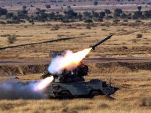 OSA AK-M surface to air missile is launched during the 'Iron Fist 2013' at Pokharan near Jaisalmer on on Friday. PTI