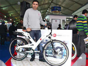 Hero Eco Group is evaluating options to roll out ultra-premium A2B electric pedelac (pedal electric cycle) costing up to Rs 2 lakh in India this year. (Pic: BCCL)