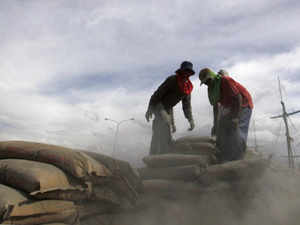 Cement prices may go up by Rs 2-4 per bag of 50 kg as a fall out of the proposed hike in freight charges by the Railways: a ratings agency.