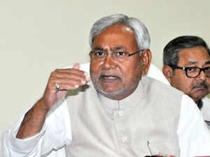 """""""This is a big victory of the people of Bihar who have waging a relentless battle for the special category status demand."""" said Nitish thanking FM. (Pic: BCCL)"""