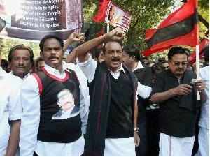 MDMK chief among hundreds of pro-Tamil activists who tried to voice their protests outside the Sri Lankan Deputy High Commission in Chennai.