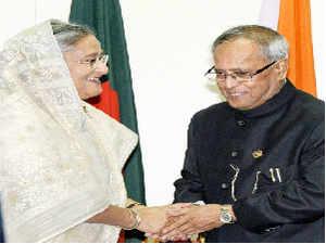 Bangladesh government reacted sharply to top opposition leader Khaleda Zia's refusal to meet visiting President Pranab Mukherjee.