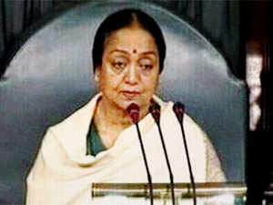 Speaker Meira Kumar urged members to calm down and allow a woman to answer the question. She pointed out that today was international women's day. (PTI)