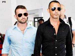 Massimiliano Lattore and Salvatore Girone, charged with homicide for killing two fishermen off the Kerala coast in February last year in an anti-piracy operation
