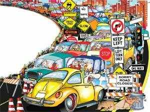 Notwithstanding all efforts, many half-hearted, at creating infrastructure - Metros, sea links et al - the traffic scenario in India's big cities is daunting. It will get worse.