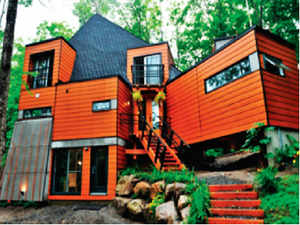 A beautiful, luxurious home, made out of useless shipping containers.