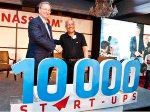Nasscom announces the launch of 10,000 start-ups programme aimed at incubating, funding and supporting technology start-ups in India over the next 10 years.