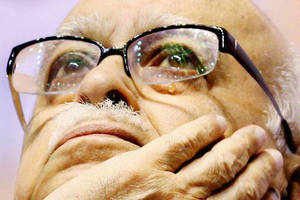 Amid growing clamour in BJP to name Narendra Modi as its PM candidate for 2014 LS elections, L K Advani said there was no competition in the party for the post.