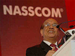 """""""Business is not growing in a linear fashion as we move up the value chain,"""" said Nasscom president Som Mittal."""
