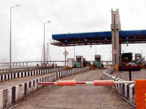 """""""C P Joshi dedicated to the nation today, the first interoperable RFID technology based Electronic Tolling System at Charoti Toll Plaza,"""" an official said. (Pic by BCCL)"""