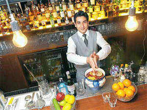 If bartenders are the guys who serve you drinks, mixologists are the elite who concoct exotic ones and create a unique tippling experience.  In pic: Manmohan Singh of PCO, Delhi.