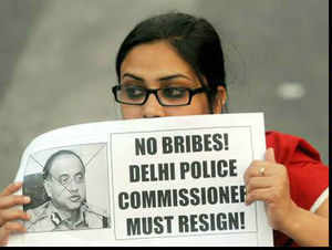 Protesters gathered at Delhi Police Headquarters for the third day demanding removal of Commissioner Neeraj Kumar and justice for the rape victim.
