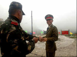 Local military commanders of India and China are holding a flag meeting in a bid to resolve the situation arising out of the incursion by Chinese troops.