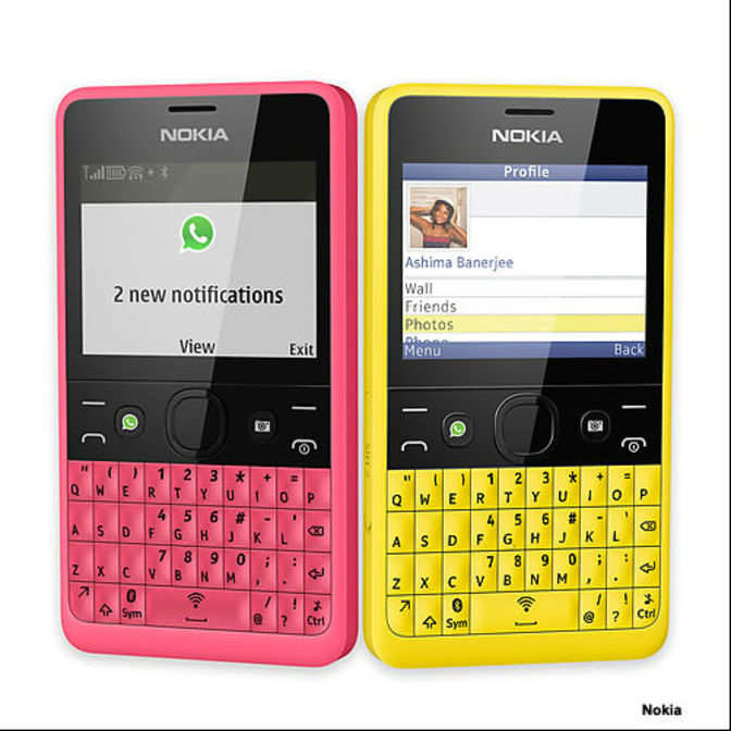 nokia keyboard phone. nokia unveils dual-sim asha 210 with qwerty keyboard - the economic times phone s
