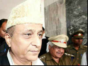 A statement by Azam Khan said that his questioning by an official of the US mainland security was a conspiracy hatched by Salman Khurshid.