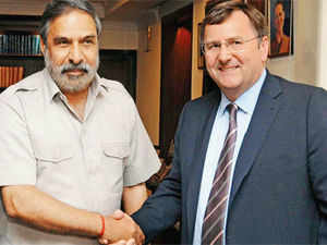 Clarke has specially flown on Friday from the UK to meet Sharma to seek clarifications on a number of conditions for global supermarket chains to invest in India.