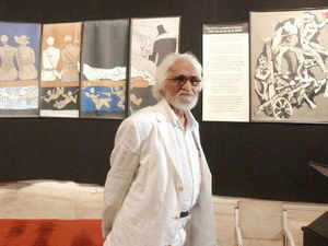 Two paintings by M F Husain will be offered at an auction for the first time at Sotheby's next month.