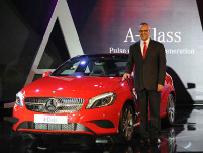 Mercedes benz a class launched at a starting price of rs for Mercedes benz starting price