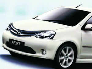 The world's largest carmaker  is considering a hybrid option for its compact sedan Etios to meet the emerging market needs and may look at production of hybrid cars in India.